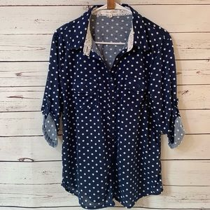 Eden and Olivia button down